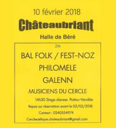Bal folk Philomèle à Chateaubriant