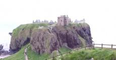 Les Etournias au château de Dunnottar en Ecosse